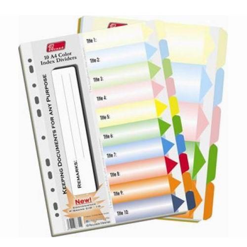 Chia file giấy 10 màu