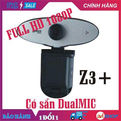 Camera, Webcam máy tính Dahua Z3 + Hình ảnh Siêu nét Full HD 1080P dạy, học online, Live Stream - Dual Micro tiện dụng Zoom online mang đi khắp nơi - Giá Tốt - Hàng mới về - aviSHOP