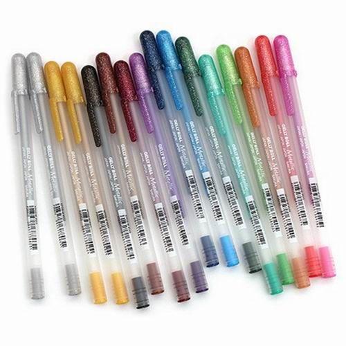 Bút bi nước nhũ nhiều màu