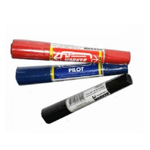 Bút dạ dầu Pilot, nét to 2 đầu Đen
